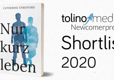 Nur kurz leben auf der Shortlist des tolino media Newcomerpreis